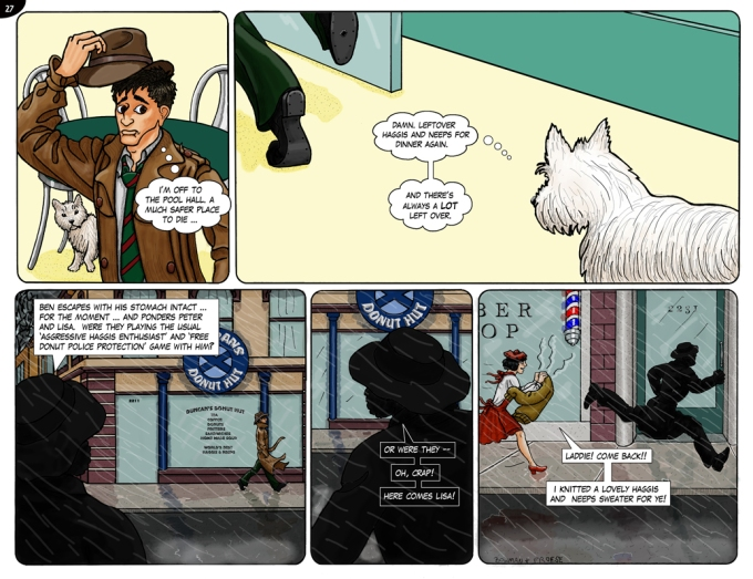 Page 27. Big trouble ... for our narrator!